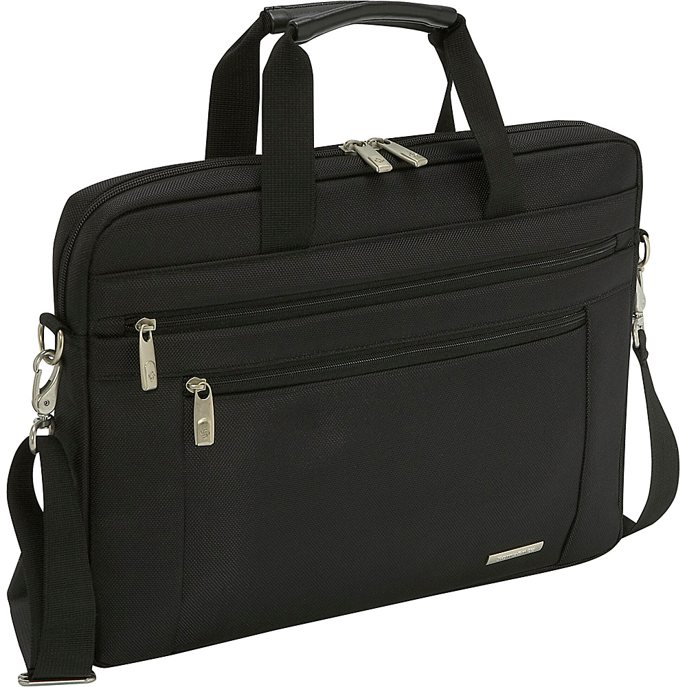 Samsonite Classic 15.6 Shuttle - Black - Work Bags & Briefcases, Non-Wheeled Business Cases