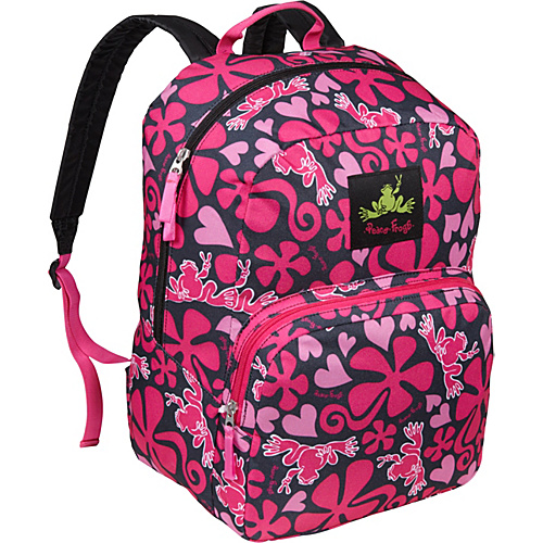 Peace Frogs Day Trippin' Backpack Lava Flow Pink - Peace Frogs School & Day Hiking Backpacks