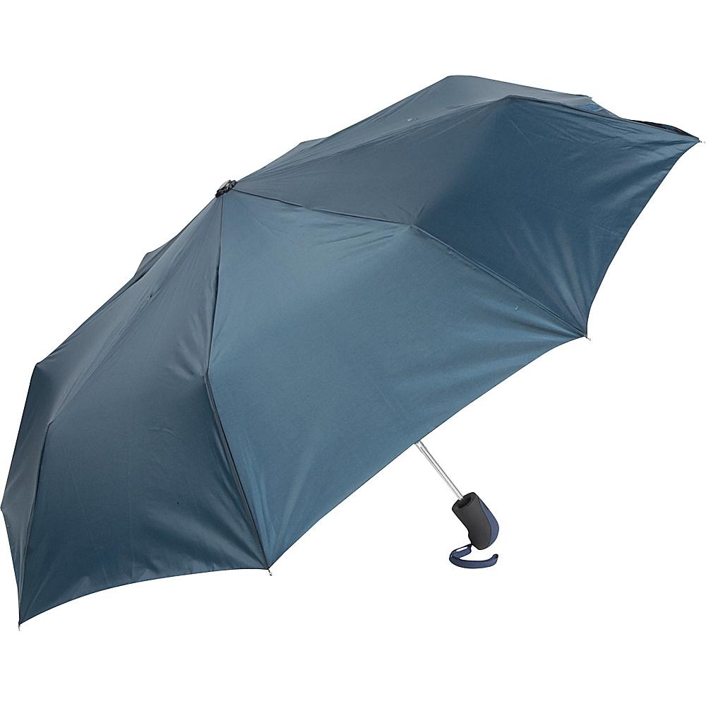 ShedRain Auto Open Mini Umbrella - Solid Colors Navy - ShedRain Umbrellas and Rain Gear - Travel Accessories, Umbrellas and Rain Gear
