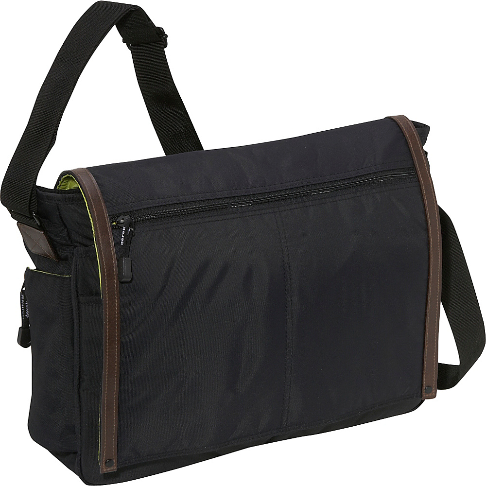 Derek Alexander Full Flap Messenger Bag - Black - Work Bags & Briefcases, Messenger Bags