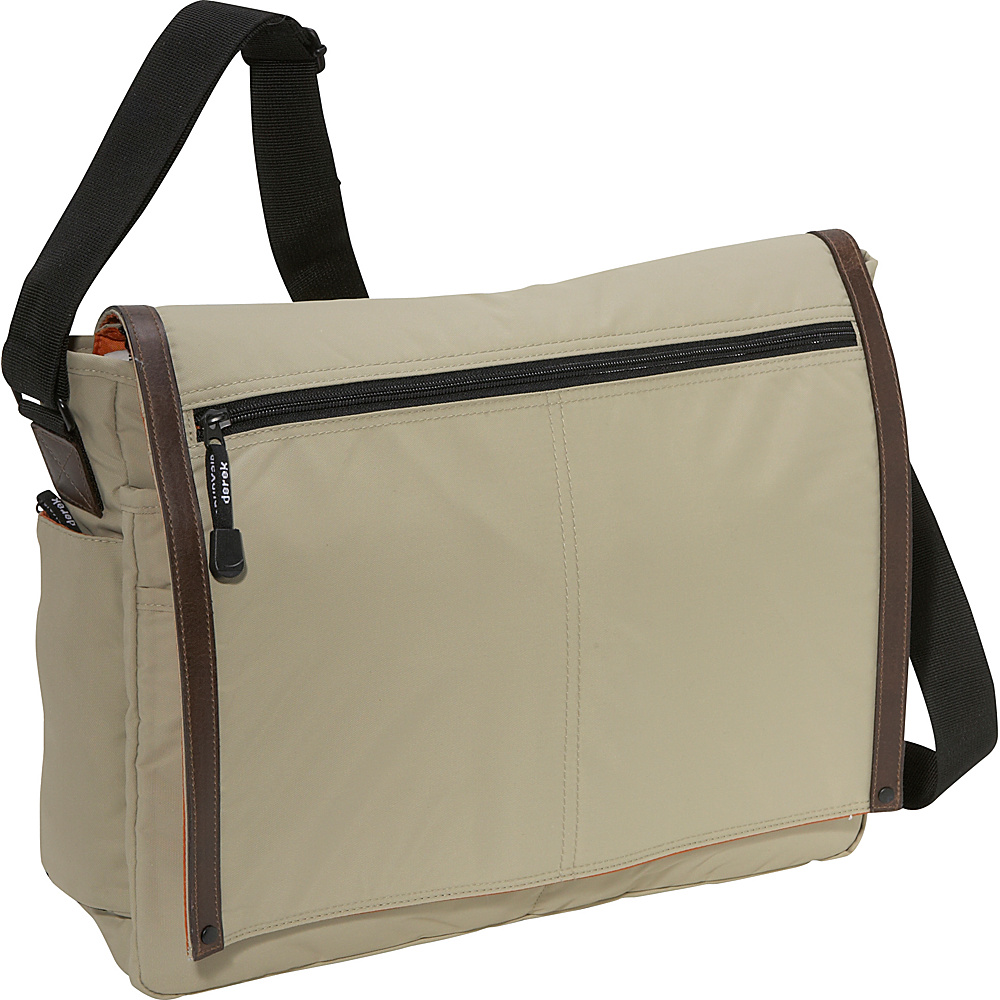 Derek Alexander Full Flap Messenger Bag - Tan - Work Bags & Briefcases, Messenger Bags