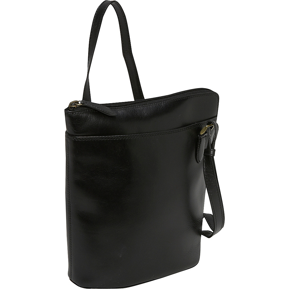Derek Alexander NS 3/4 Zip - Black - Handbags, Leather Handbags
