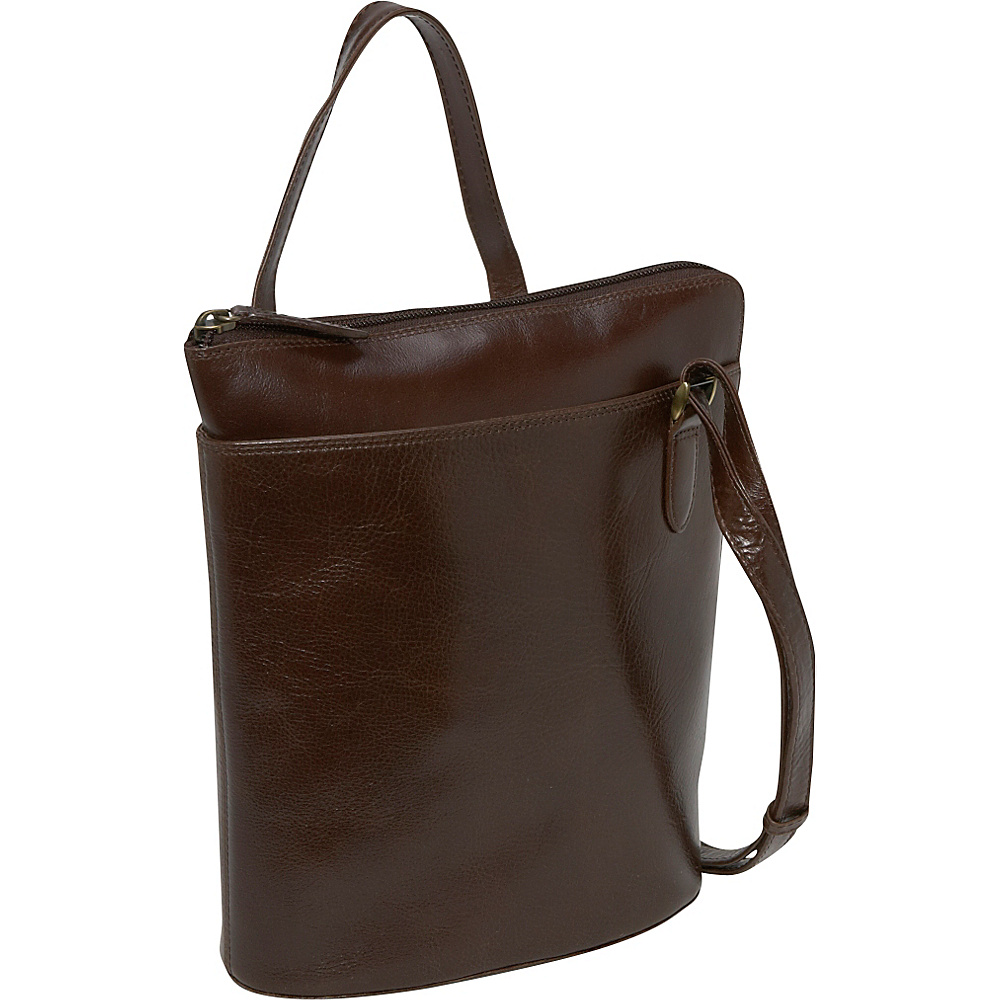 Derek Alexander NS 3/4 Zip - Coffee - Handbags, Leather Handbags