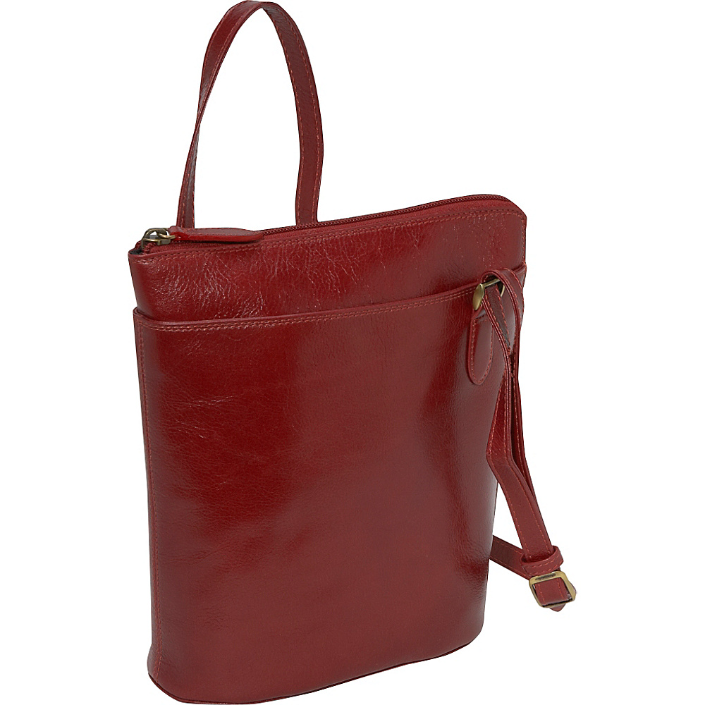 Derek Alexander NS 3/4 Zip - Red - Handbags, Leather Handbags