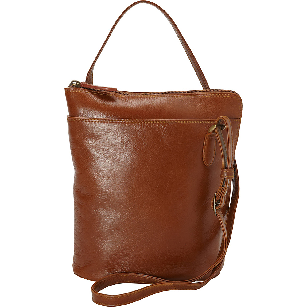 Derek Alexander NS 3/4 Zip Tan - Derek Alexander Leather Handbags - Handbags, Leather Handbags