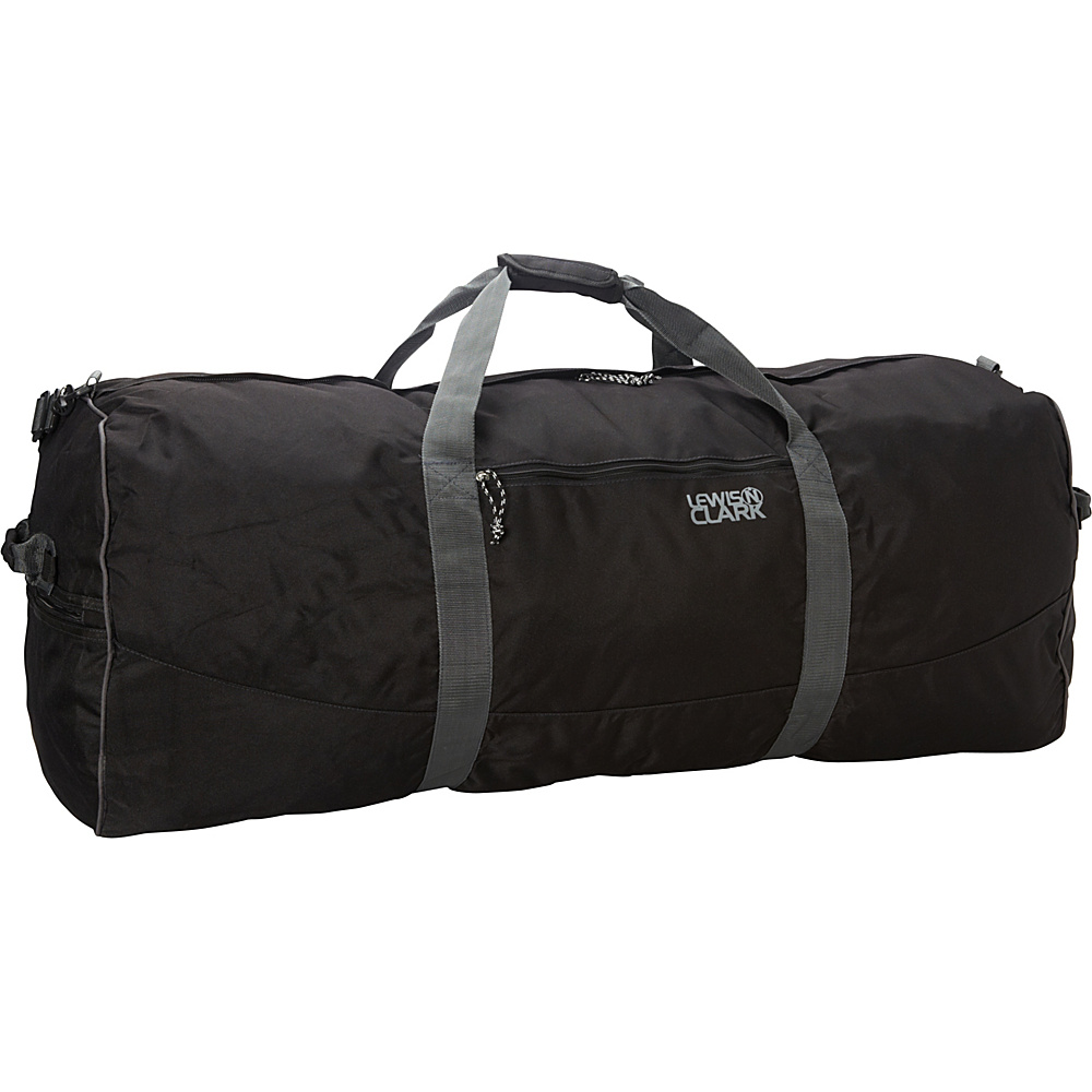 Lewis N. Clark Uncharted Duffel Bag - X-Large - Black - Luggage, Rolling Duffels