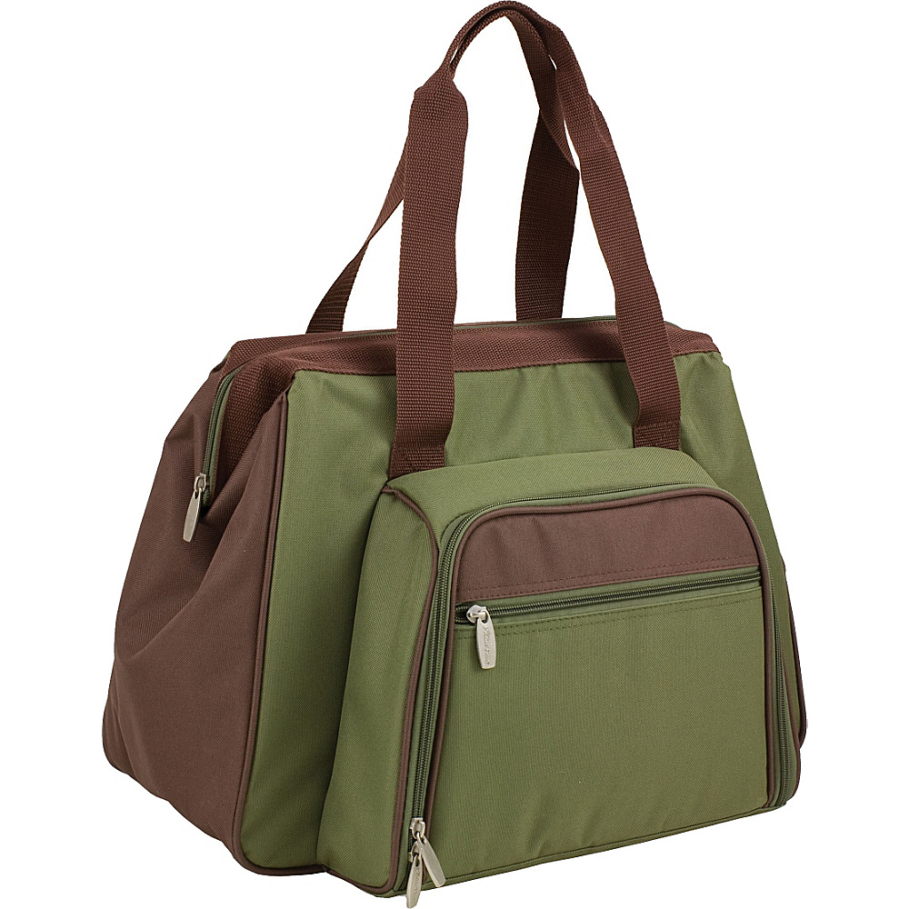 Picnic Time Toluca Insulated Cooler Pine Green Picnic Time Travel Coolers