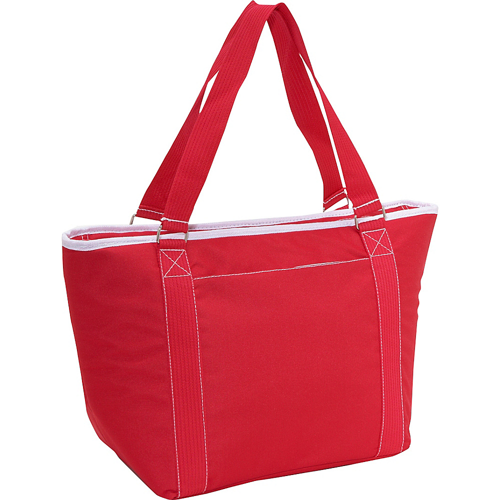 Picnic Time Topanga large insulated shoulder tote Red