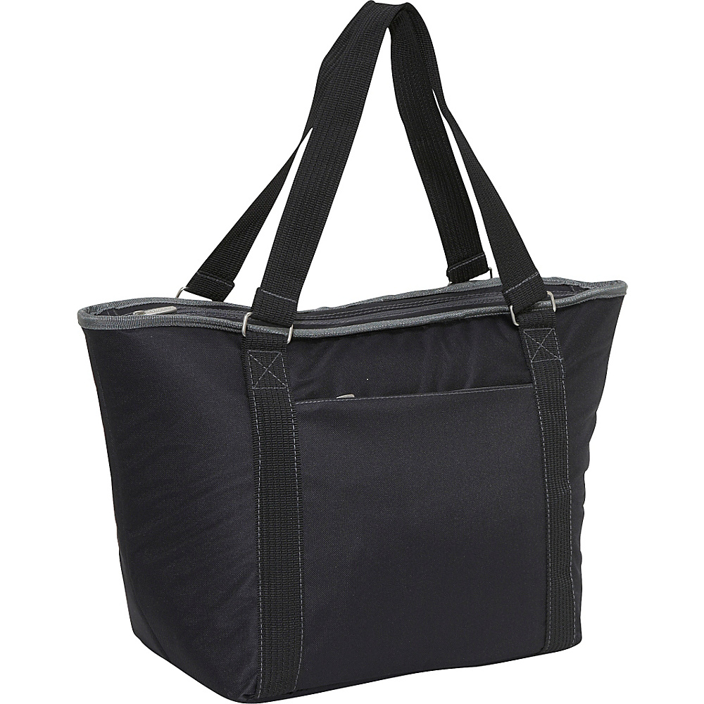 Picnic Time Topanga large insulated shoulder tote Black Picnic Time Travel Coolers