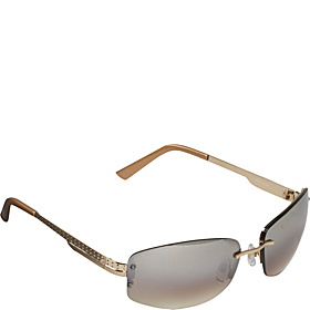 Semi-Rimless Sunglasses Shiny Gold