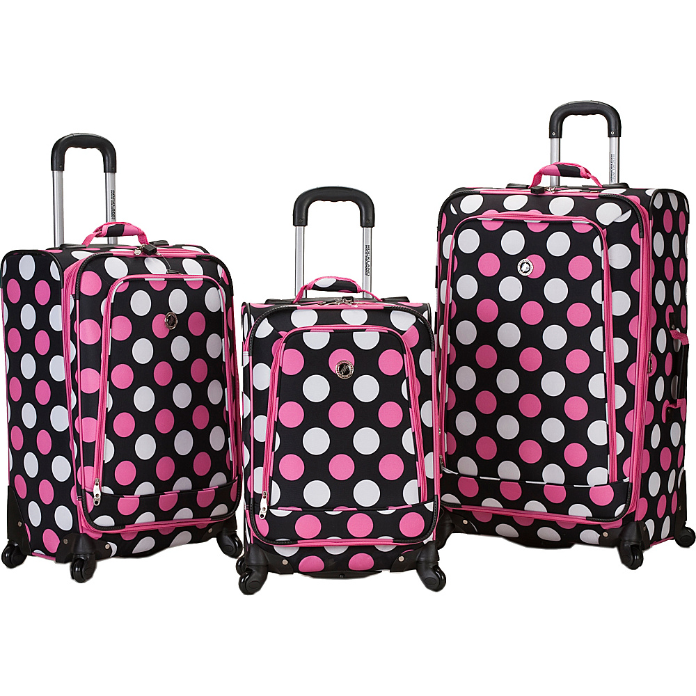 Rockland Luggage 3 Piece Monte Carlo Spinner Luggage - Luggage, Luggage Sets