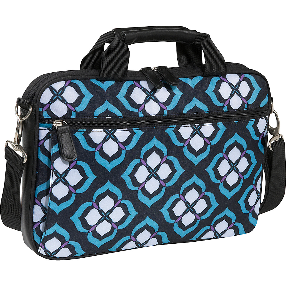 Nuo Chloe Dao 14 Laptop Attache - Blue Lotus - Work Bags & Briefcases, Non-Wheeled Business Cases