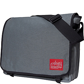 Deluxe 17'' Laptop Messenger Bag Gray