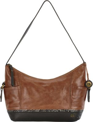 The Sak Kendra Hobo Brown Snake Multi - The Sak Leather Handbags