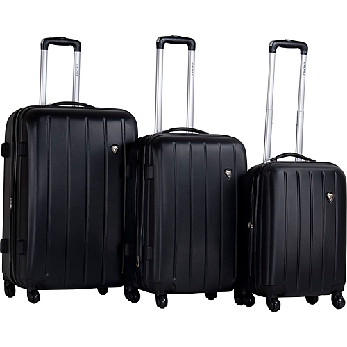 CalPak KLUB 3 Piece Hardside Spinner Set Black - CalPak Hardside Luggage