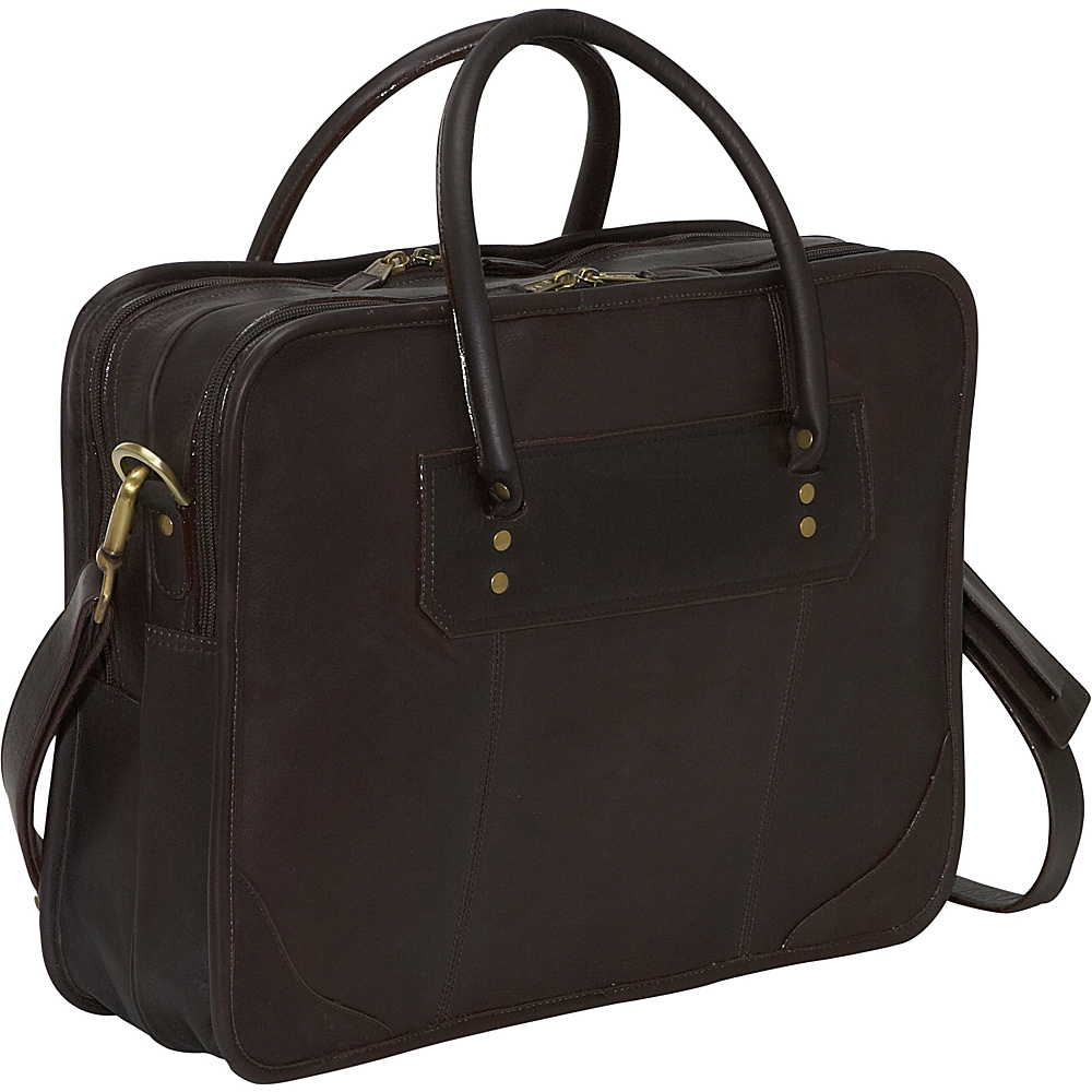Clava Leather Top Handle Laptop Briefcase - Vachetta