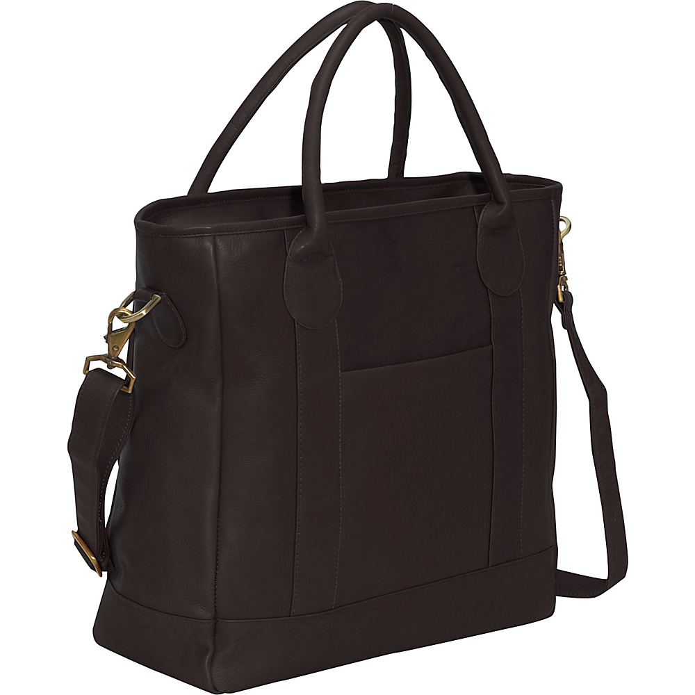 Clava Leather Tote - Vachetta Cafe - Handbags, Leather Handbags