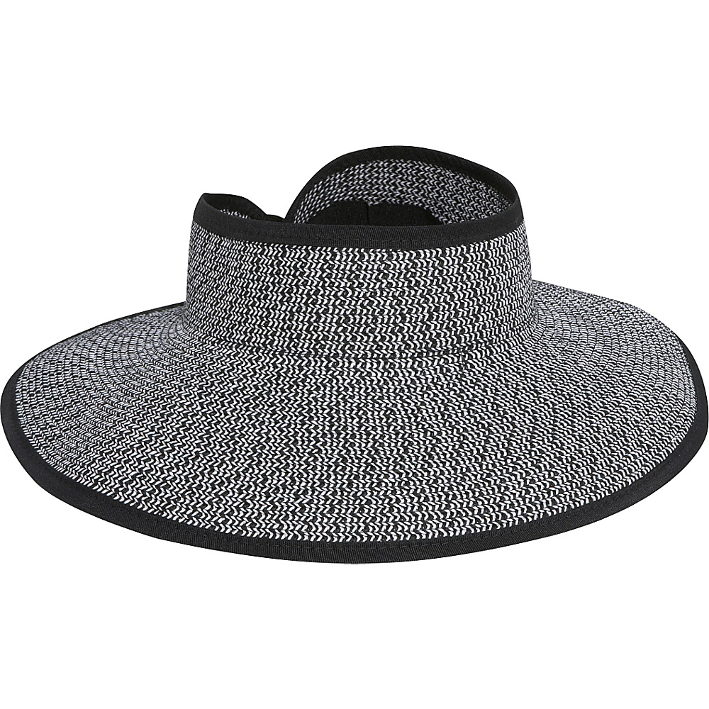 San Diego Hat Roll Up Visor black white mix