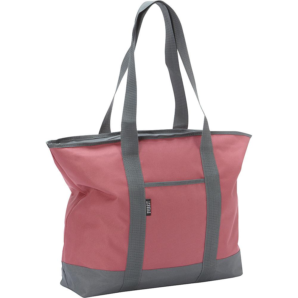 Everest Shopping Tote Marsala/Gray - Everest Fabric Handbags - Handbags, Fabric Handbags