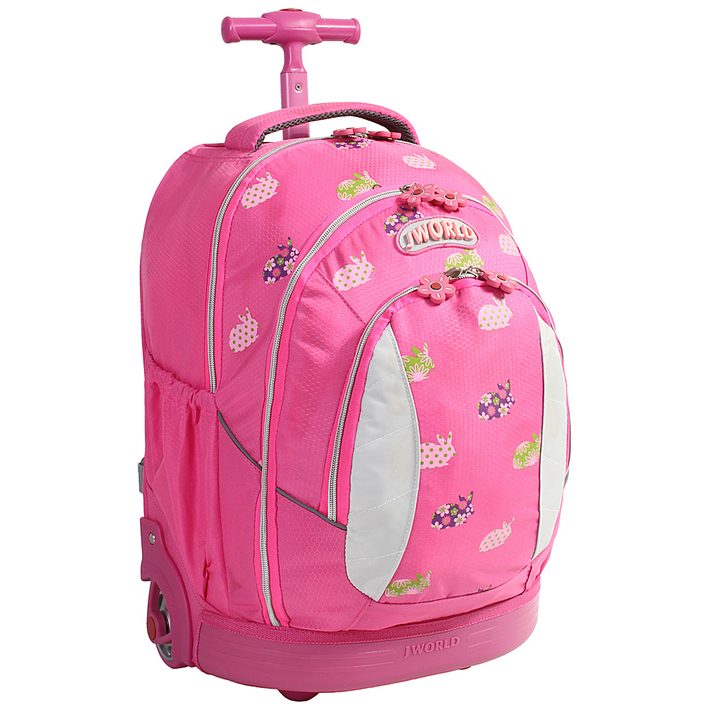 J World New York Sweet Kids Rolling Backpack (Kids ages 5-9) Rabbit - J World New York Wheeled Backpacks