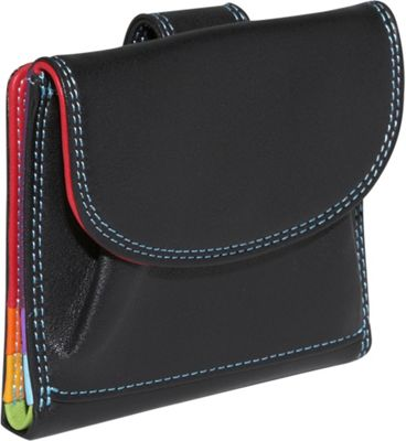 BelArno BelArno Small French Multi Color Wallet in Black