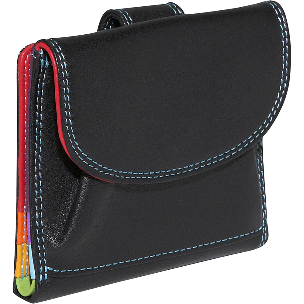 BelArno Small French Multi Color Wallet in Black