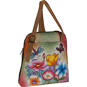 ANNA by Anuschka Zip Around Satchel - Floral Garden Floral Garden