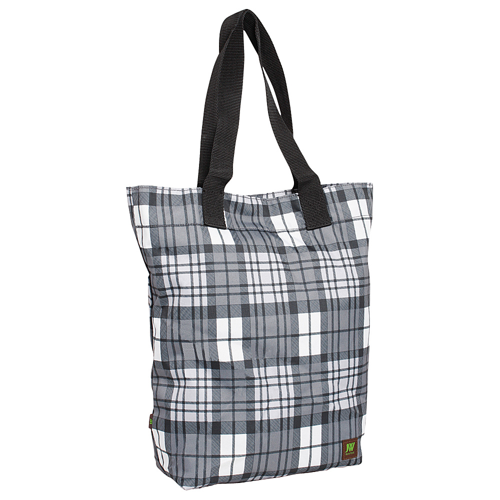 J World New York Leslie Tote Bag Tartan Grey - J World New York All-Purpose Totes - Travel Accessories, All-Purpose Totes