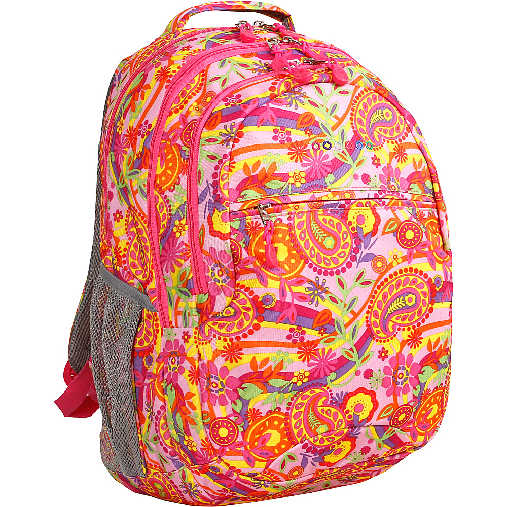 J World New York Cornelia Laptop Backpack Pink Paisley - J World New York Everyday Backpacks - Backpacks, Everyday Backpacks
