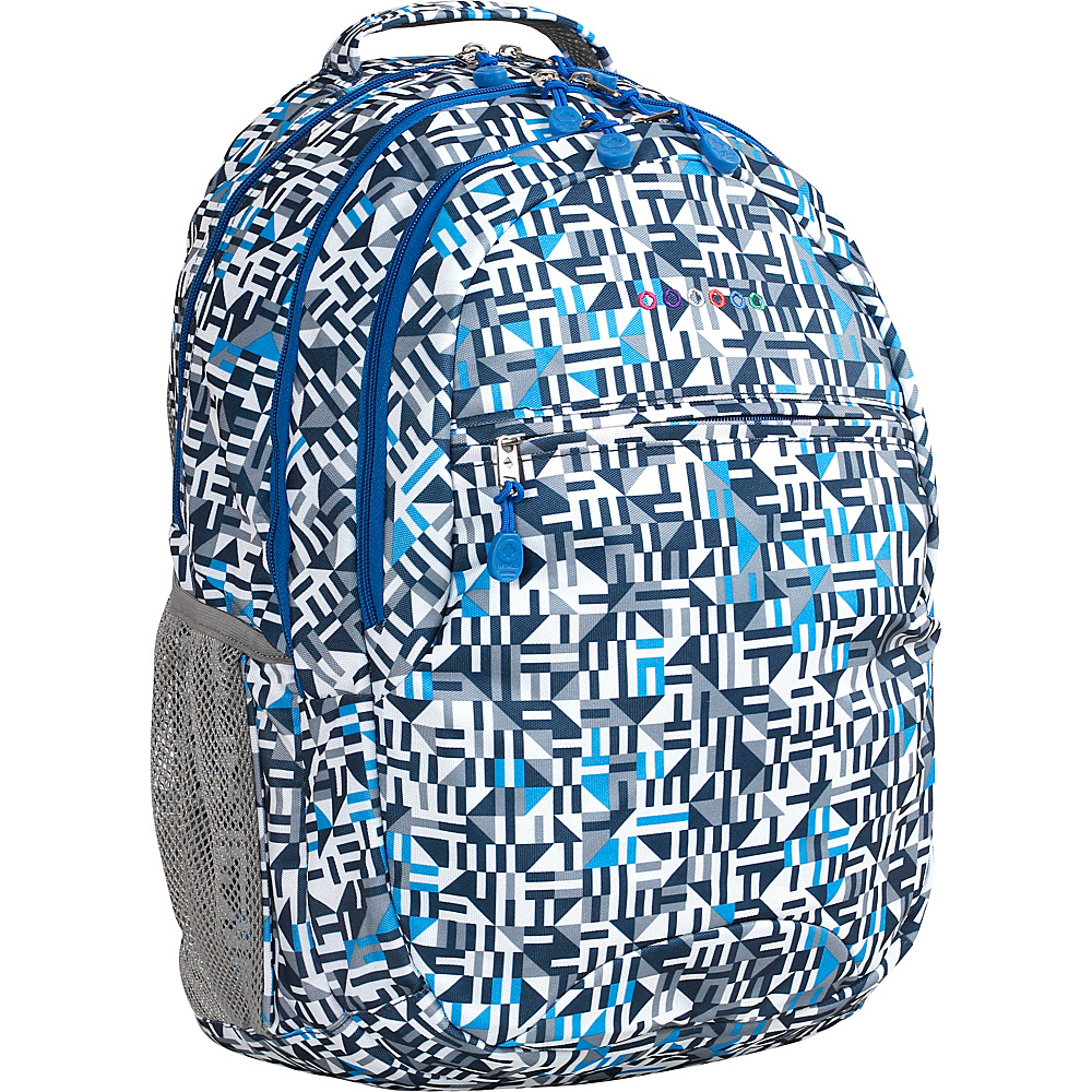 J World New York Cornelia Laptop Backpack Geo Blue - J World New York Everyday Backpacks - Backpacks, Everyday Backpacks
