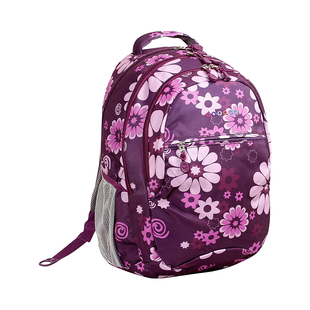 J World New York Cornelia Laptop Backpack Purple Flower - J World New York Everyday Backpacks - Backpacks, Everyday Backpacks