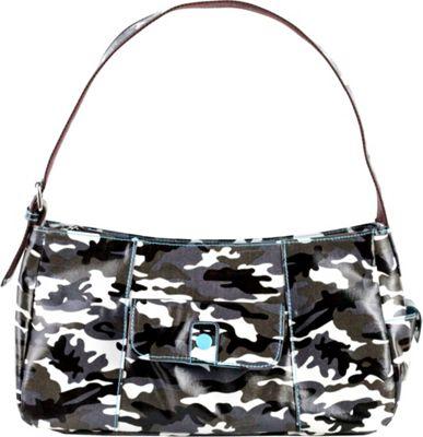 Urban Junket Lauren Hobo Bag Grey Camouflage - Urban Junket Fabric Handbags