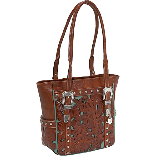 American West Everyday Cowgirl Totes - Antique Brown w/