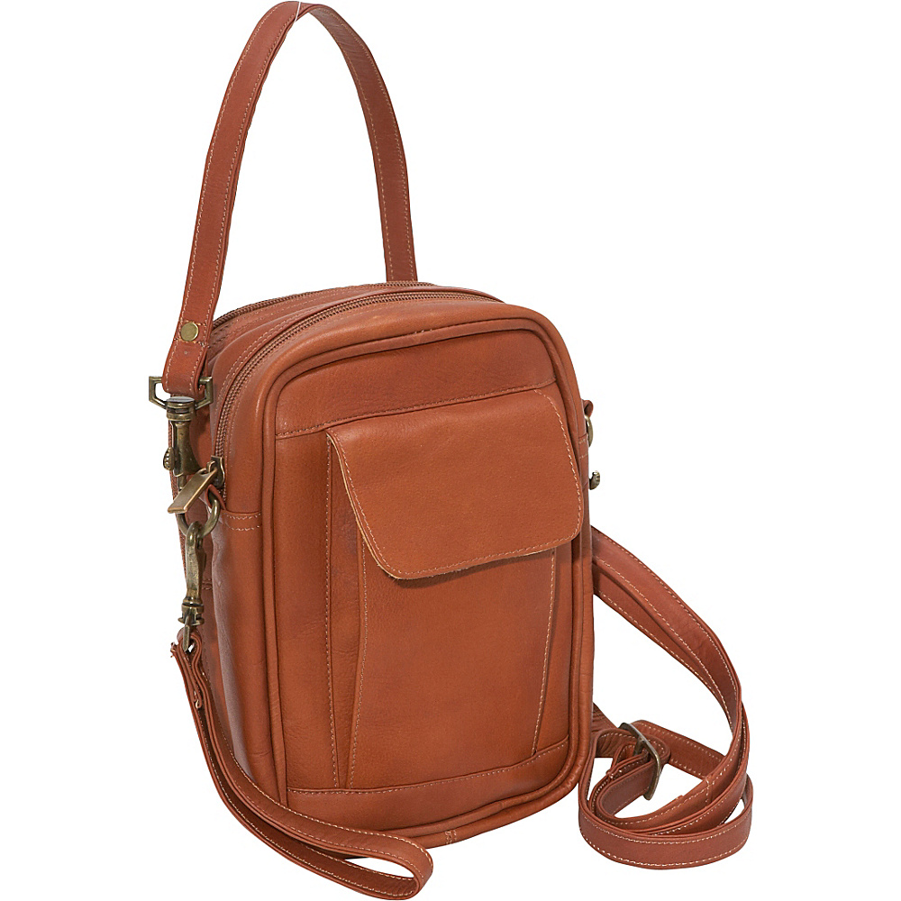David King & Co. Man Bag With Organizer - Tan - Work Bags & Briefcases, Other Men's Bags