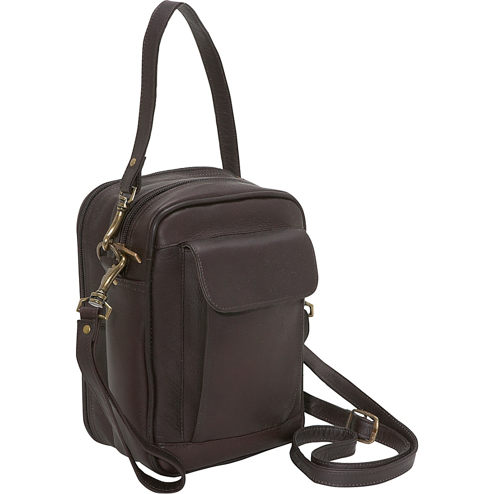 David King & Co. Man Bag With Organizer - Cafe - Work Bags & Briefcases, Other Men's Bags