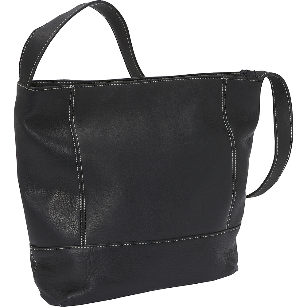 Le Donne Leather Everyday Shoulder Bag Black - Le Donne Leather Leather Handbags - Handbags, Leather Handbags
