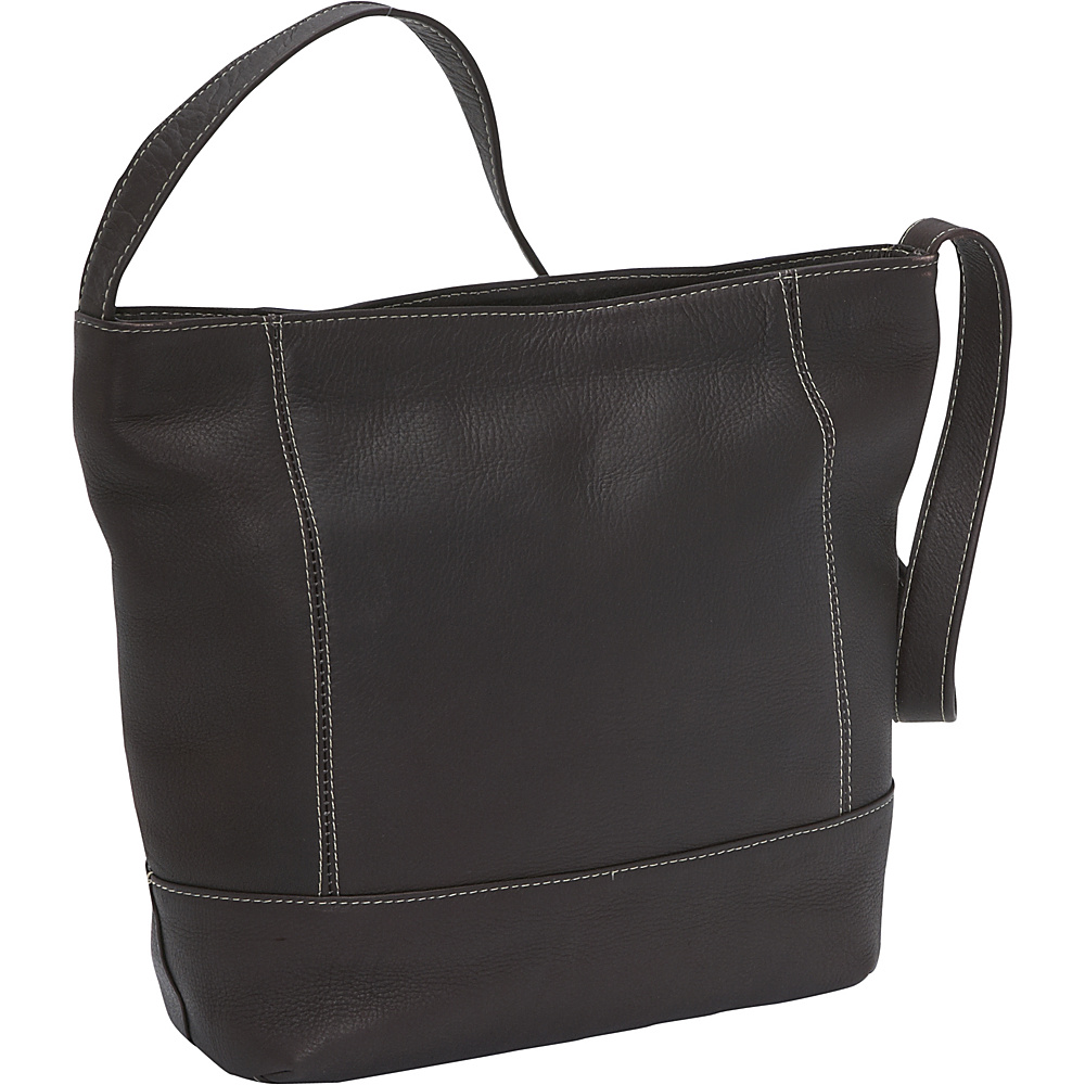 Le Donne Leather Everyday Shoulder Bag Cafe - Le Donne Leather Leather Handbags - Handbags, Leather Handbags