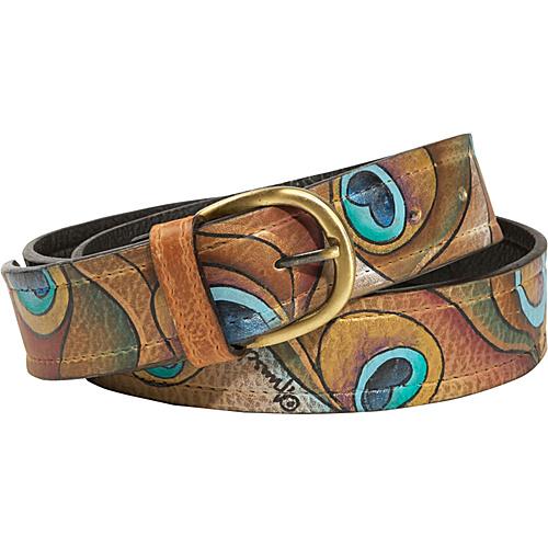 Anuschka Belt Peacock- L - Anuschka Belts