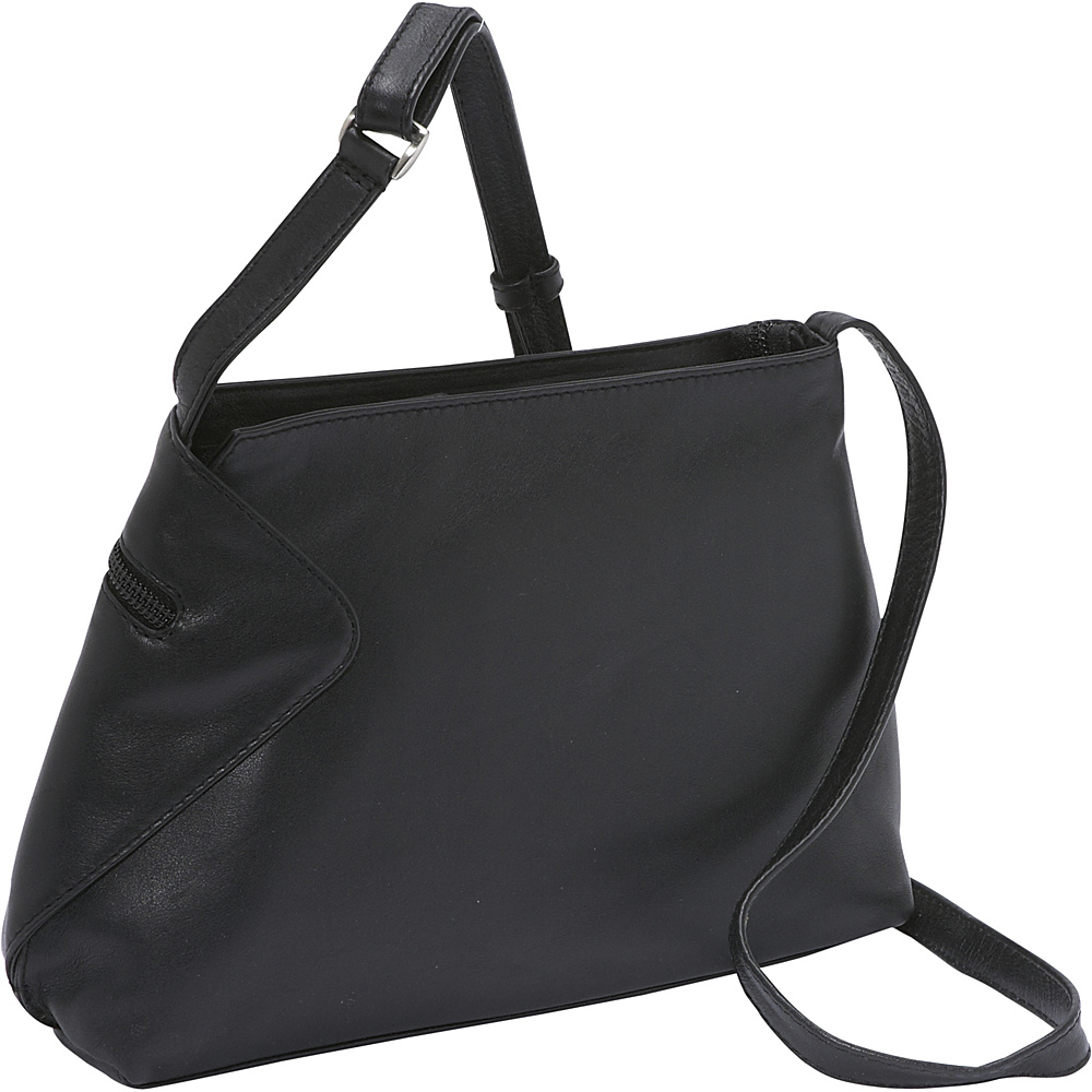 Derek Alexander Small EW Inset Top Zip - Black - Handbags, Leather Handbags