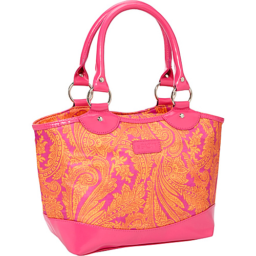 Sachi Insulated Lunch Bags Style 36 Printed Lunch Tote Pink Paisley - Sachi Insulated Lunch Bags Travel Coolers