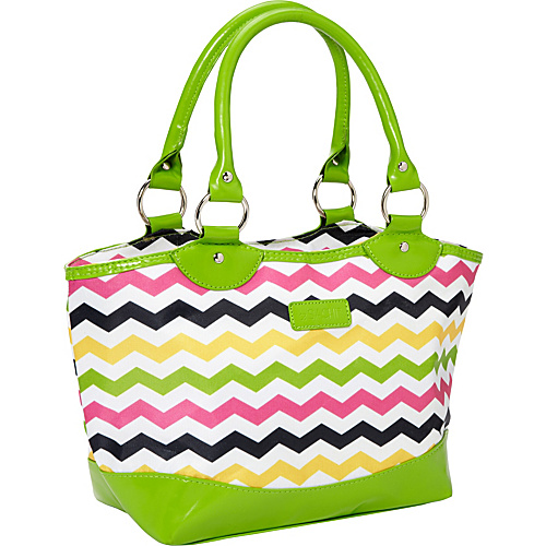 Sachi Insulated Lunch Bags Style 36 Printed Lunch Tote Multi Color Chevron - Sachi Insulated Lunch Bags Travel Coolers
