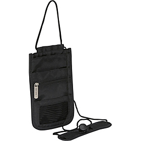 RFID Blocking Deluxe Boarding Pouch Black