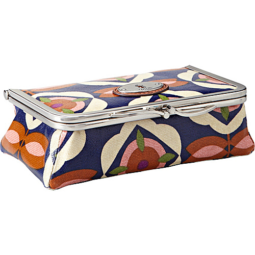 Fossil Key-Per Frame Cosmetic Blue Floral - Fossil Ladies Cosmetic Bags