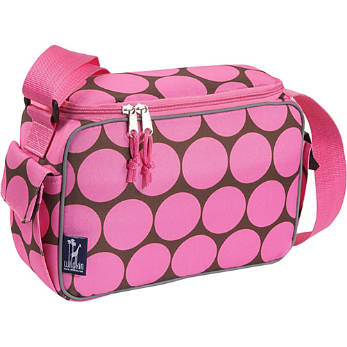 Wildkin Big Dots Pink Lunch Cooler - Big Dots Pink