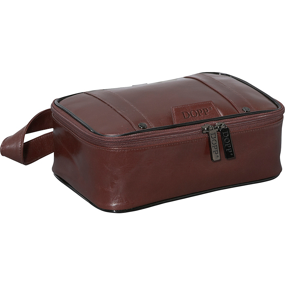 Dopp Veneto Top Zip Travel Kit - Brown