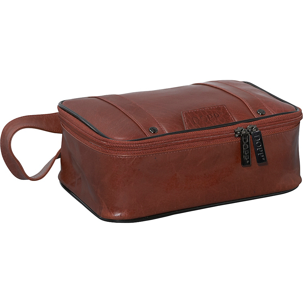 Dopp Veneto Top Zip Travel Kit - Tan