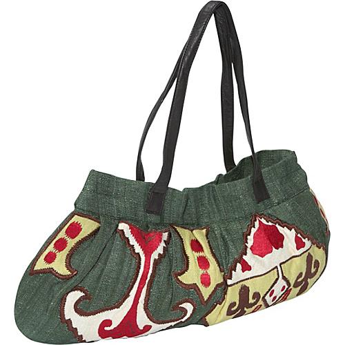 Moyna Handbags Handloom Silk Ikat Embroidered Bag - Shoulder Bag