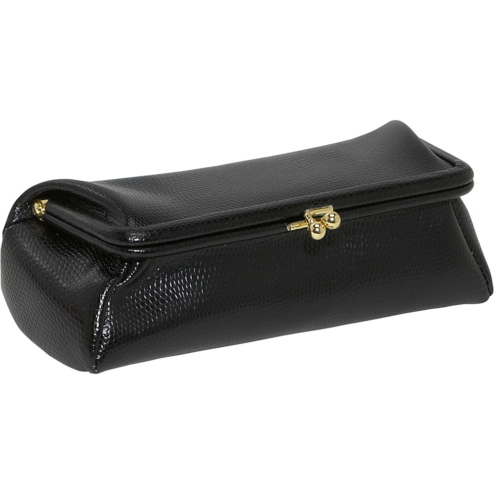 Budd Leather Framed Cosmetic Case - Black Onyx