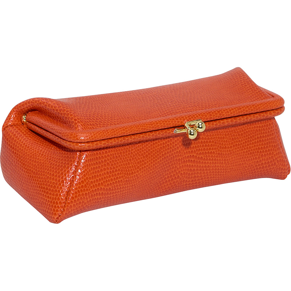 Budd Leather Framed Cosmetic Case Tangerine