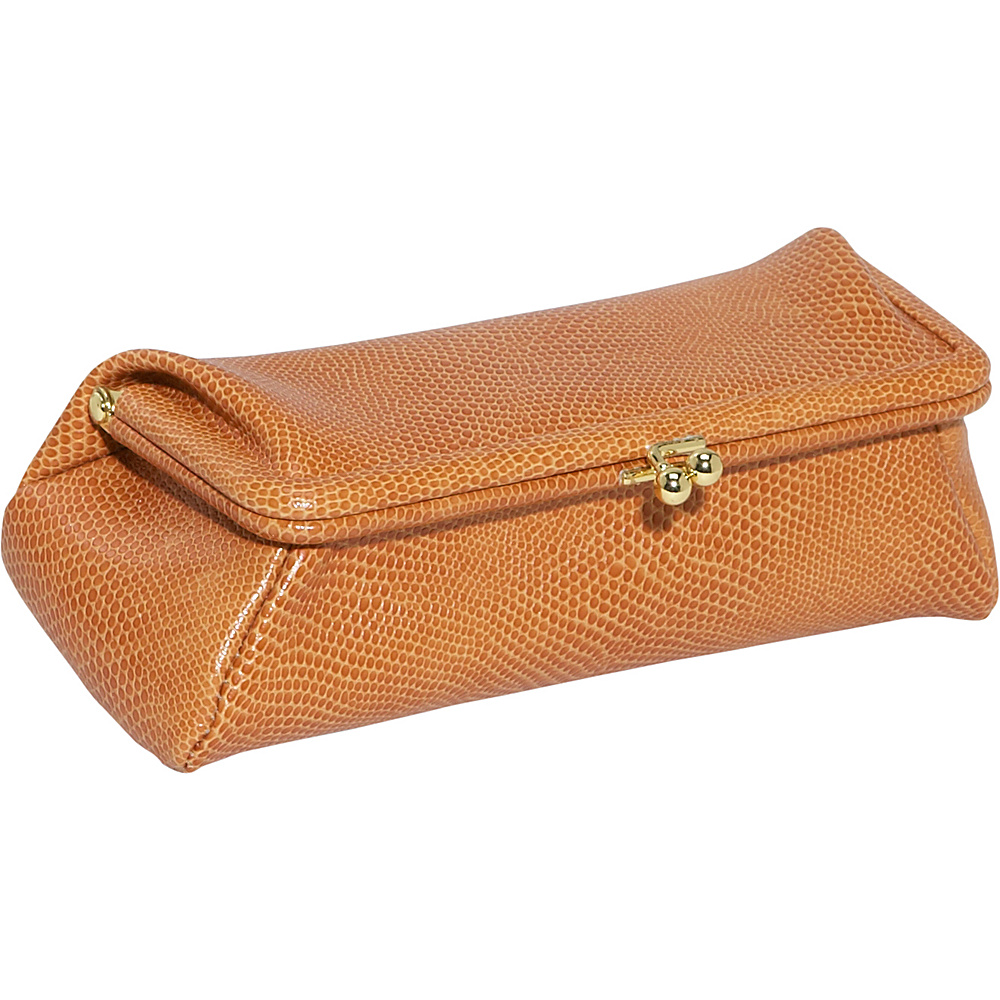 Budd Leather Framed Cosmetic Case Golden Tan